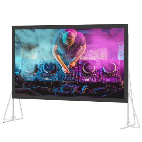Da-Lite 35464N Heavy Duty Fast-Fold Deluxe 11.25 x 20' Folding Projection Screen (No Case, No Legs)