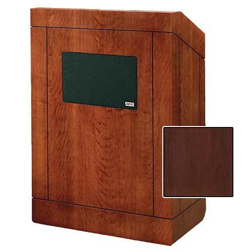 "Da-Lite Providence Tabletop Lectern with Premium Sound System (25"", Cherry Laminate)"