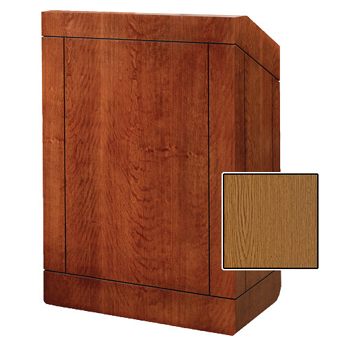 "Da-Lite Providence Tabletop Lectern (25"", Medium Oak Veneer)"