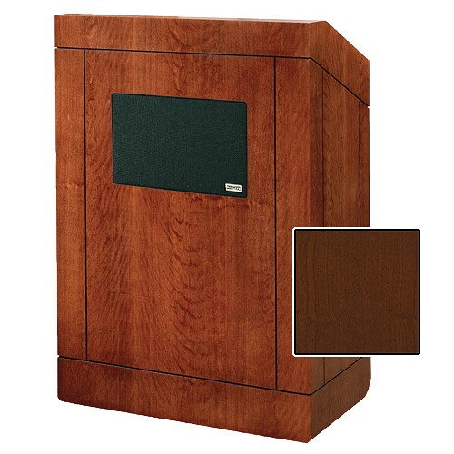 """Da-Lite 25"""" Providence Tabletop Lectern with Sound System (Cherry Veneer)"""
