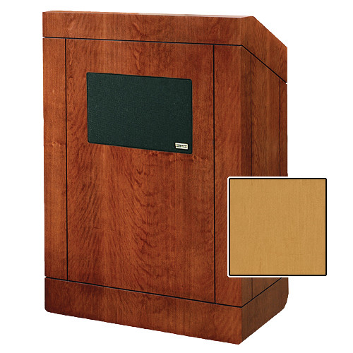"Da-Lite Providence Tabletop Lectern with Premium Sound System (25"", Honey Maple Veneer)"