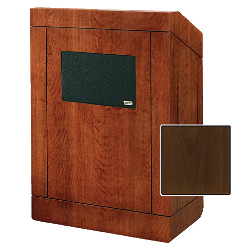 "Da-Lite Providence Tabletop Lectern with Premium Sound System (25"", Natural Walnut Veneer)"