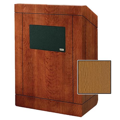 "Da-Lite 25"" Providence Tabletop Lectern with Sound System (Medium Oak Veneer)"