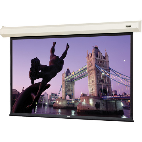 "Da-Lite 74706I 84 x 84"" Cosmopolitan Electrol Wall & Ceiling Screen (White Case)"