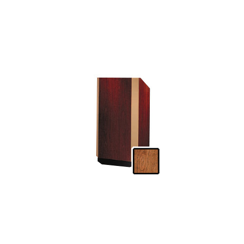 "Da-Lite Yorkshire 25"" Floor Lectern (Cherry Veneer, Brass Trim)"