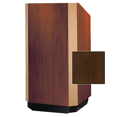 "Da-Lite 32"" Yorkshire Floor Lectern (Natural Walnut Veneer, Bronze Trim, 220VAC)"