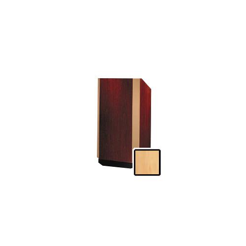 """Da-Lite Yorkshire 32"""" Floor Lectern with Electric Height Adjustment (Honey Maple Veneer, Bronze Trim)"""
