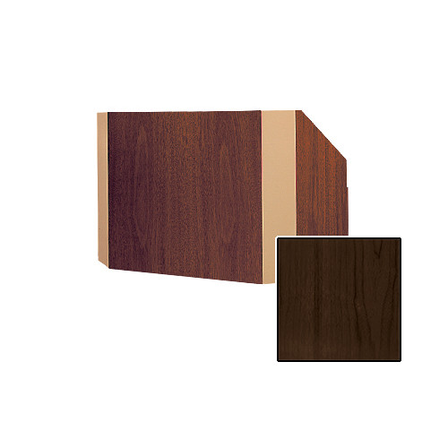 "Da-Lite Yorkshire 25"" Tabletop Lectern (Heritage Walnut Veneer Finish, Brass Trim, 220V)"