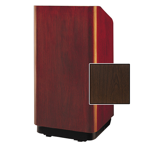 "Da-Lite Concord Special Needs Adjustable Floor Lectern (42"", Gunstock Walnut Laminate, 220V)"