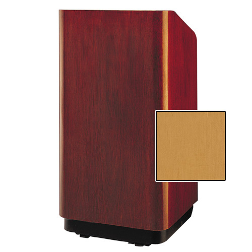 "Da-Lite Concord Special Needs Adjustable Floor Lectern (42"", Honey Maple Veneer, 220V)"