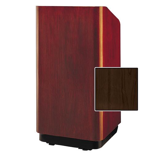 "Da-Lite Concord Special Needs Adjustable Floor Lectern (42"", Heritage Walnut Veneer, 220V)"