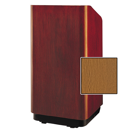 "Da-Lite Concord Special Needs Adjustable Floor Lectern (42"", Medium Oak Veneer, 220V)"