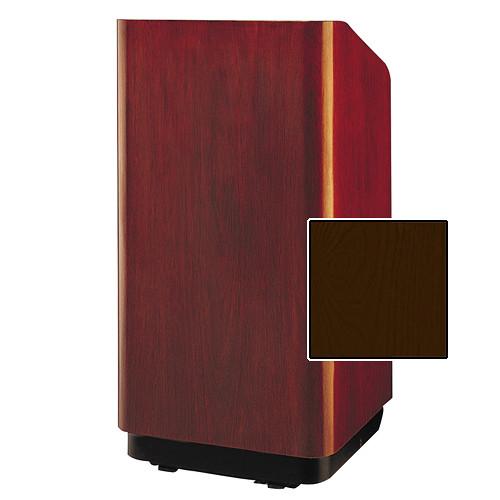 """Da-Lite Concord Special Needs Adjustable Floor Lectern (42"""", Mahogany Veneer, 220V)"""