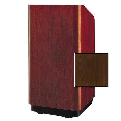 "Da-Lite Concord Special Needs Adjustable Floor Lectern (42"", Natural Walnut Veneer, 220V)"