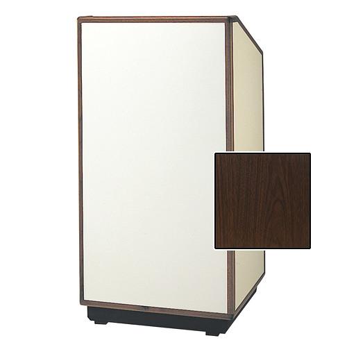 "Da-Lite Cambridge Special Needs Adjustable Floor Lectern (42"", Gunstock Walnut Laminate, Wood Trim, 220V)"