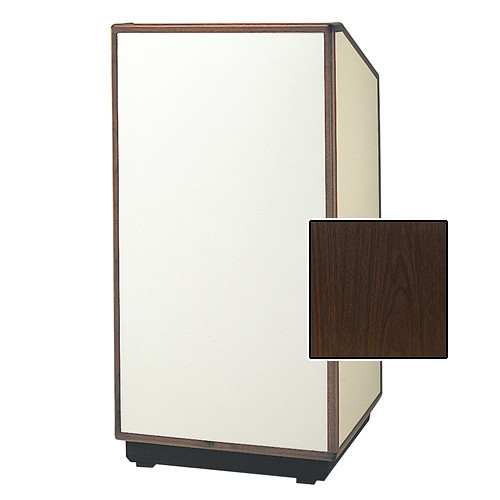 "Da-Lite Cambridge Special Needs Adjustable Floor Lectern (42"", Gunstock Walnut Laminate, Wood Trim, 220V)"