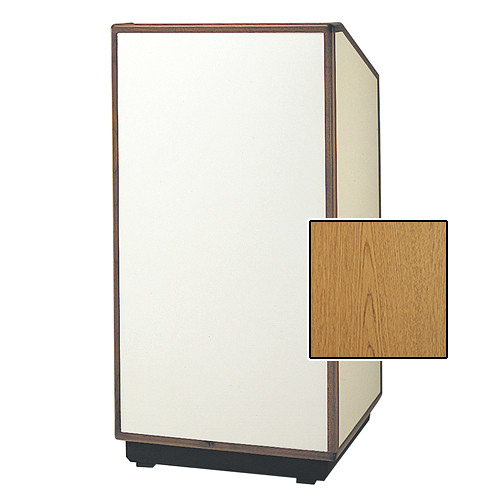 "Da-Lite Cambridge Special Needs Adjustable Floor Lectern (42"", Light Oak Laminate, Wood Trim, 220V)"