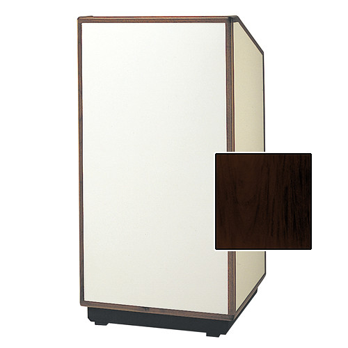 "Da-Lite Cambridge Special Needs Adjustable Floor Lectern (42"", Mahogany Laminate, Wood Trim, 220V)"