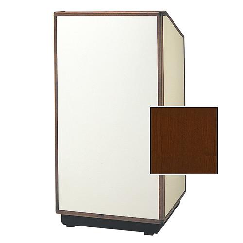 """Da-Lite Cambridge Special Needs Adjustable Floor Lectern (42"""", Cherry Veneer, Wood Trim, 220V)"""