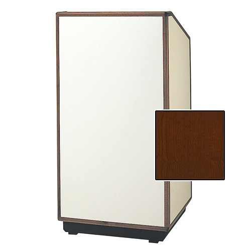 "Da-Lite Cambridge Special Needs Adjustable Floor Lectern (42"", Cherry Veneer, Wood Trim, 220V)"