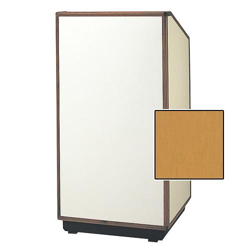 """Da-Lite Cambridge Special Needs Adjustable Floor Lectern (42"""", Honey Maple Veneer, Wood Trim, 220V)"""