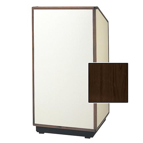 """Da-Lite Cambridge Special Needs Adjustable Floor Lectern (42"""", Heritage Walnut Veneer, Wood Trim, 220V)"""