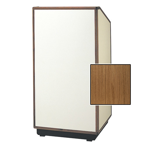 "Da-Lite Cambridge Special Needs Adjustable Floor Lectern (42"", Light Oak Veneer, Wood Trim, 220V)"