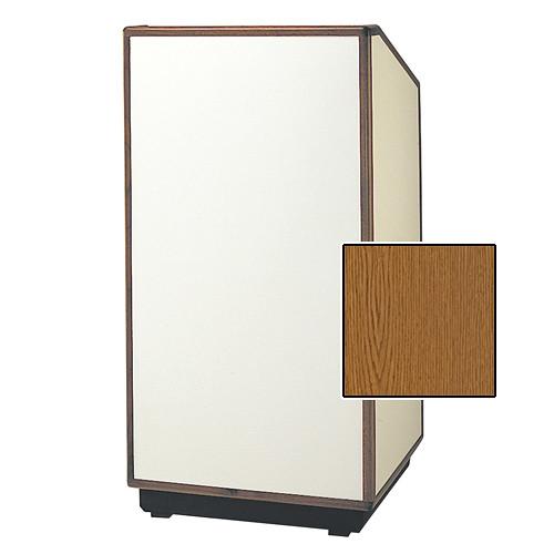 "Da-Lite Cambridge Special Needs Adjustable Floor Lectern (42"", Medium Oak Veneer, Wood Trim, 220V)"