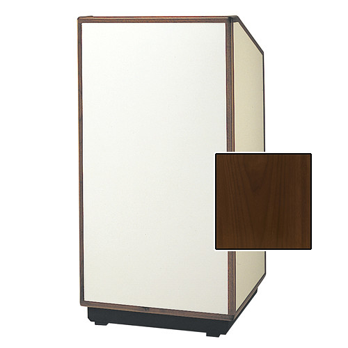 "Da-Lite Cambridge Special Needs Adjustable Floor Lectern (42"", Natural Walnut Veneer, Wood Trim, 220V)"