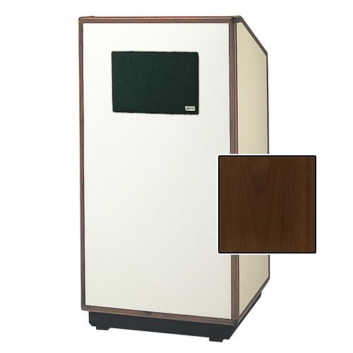 "Da-Lite Cambridge 42"" Special Needs Floor Lectern with Electric Height Adjustment & Sound System (Standard Honey Maple Veneer)"