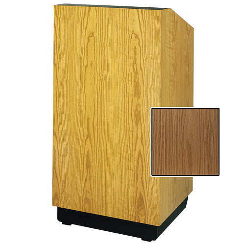 "Da-Lite Lexington Special Needs Adjustable Floor Lectern (42"", Light Oak Veneer, 220V)"