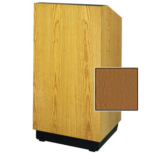"Da-Lite Lexington Special Needs Adjustable Floor Lectern (42"", Medium Oak Veneer, 220V)"