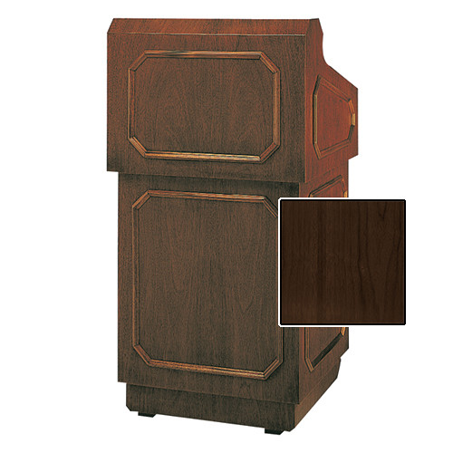 "Da-Lite Hamilton Special Needs Adjustable Floor Lectern (42"", Heritage Walnut Veneer, 220V)"