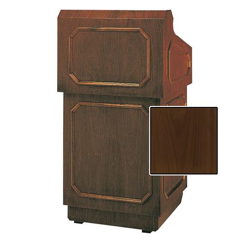 """Da-Lite Hamilton Special Needs Adjustable Floor Lectern (42"""", Natural Walnut Veneer, 220V)"""
