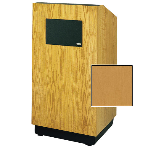 "Da-Lite Lexington 42"" Multimedia Floor Lectern with AmpliVox Sound System (Standard Honey Maple Veneer)"