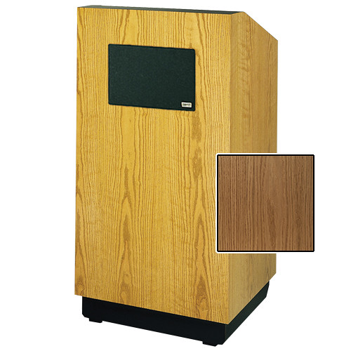"Da-Lite Lexington 42"" Multimedia Floor Lectern with AmpliVox Sound System (Standard Light Oak Veneer)"