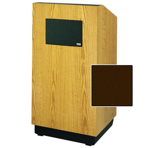 "Da-Lite Lexington 42"" Multimedia Floor Lectern with AmpliVox Sound System (Standard Mahogany Veneer)"