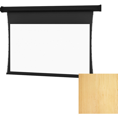 "Da-Lite Tensioned Cosmopolitan Electrol 78 x 139"" 16:9 Screen with High Contrast Da-Mat Surface (Honey Maple Veneer, 120V)"