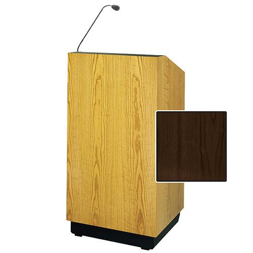 "Da-Lite Lexington 48"" Multi-Media Lectern with Gooseneck Microphone (Heritage Walnut Veneer)"