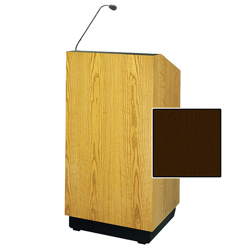 "Da-Lite Lexington 48"" Multi-Media Lectern with Gooseneck Microphone (Mahogany Veneer)"