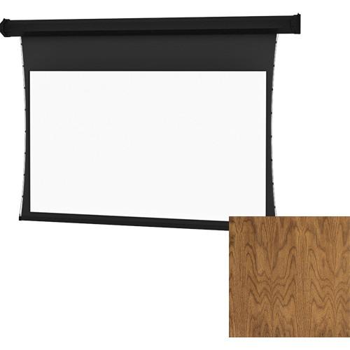 "Da-Lite Tensioned Cosmopolitan Electrol 58 x 104"" 16:9 Screen with HD Progressive 1.1 Contrast Perforated Surface (Natural Walnut Veneer, 120V)"