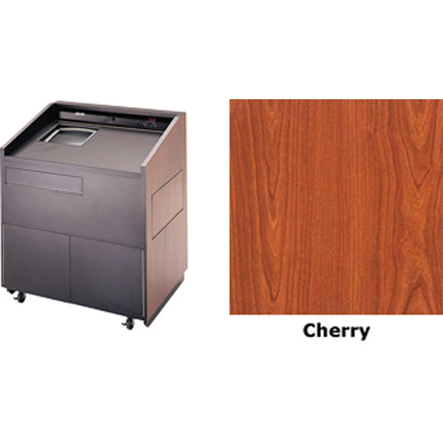 "Da-Lite Lexington 32"" Multi-Media Lectern with Gooseneck Microphone (Cherry Laminate)"