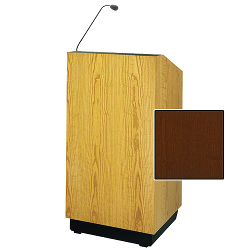 "Da-Lite Lexington Multimedia Lectern with Microphone and Premium Sound System (32"", Cherry Veneer, 220V)"