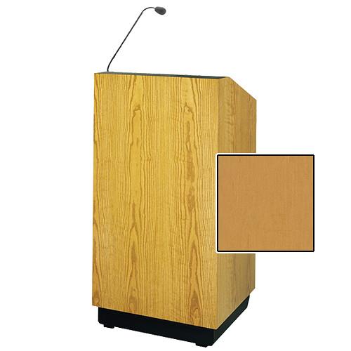 "Da-Lite Lexington 32"" Multi-Media Lectern with Gooseneck Microphone (Honey Maple Veneer)"