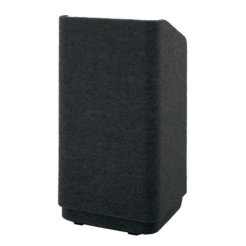 """Da-Lite Concord 25"""" Carpeted Floor Lectern with Electric Height Adjustment & Sound System (Black)"""