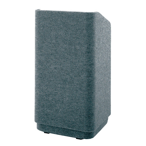 """Da-Lite Concord 25"""" Carpeted Floor Lectern with Electric Height Adjustment & Sound System (Gray)"""
