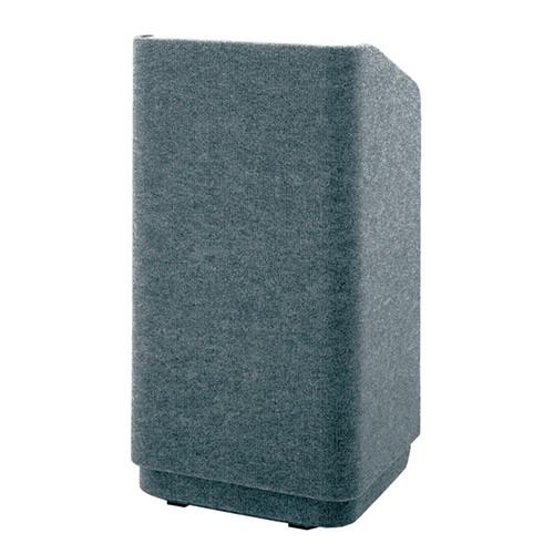 "Da-Lite Concord 32"" Carpeted Floor Lectern (Gray)"