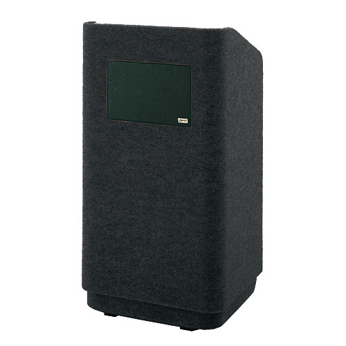 """Da-Lite Concord 25"""" Carpeted Floor Lectern with Sound System (Black)"""