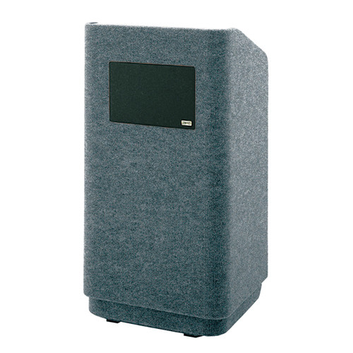 """Da-Lite Concord 25"""" Carpeted Stacking Lectern with Sound System (Gray)"""