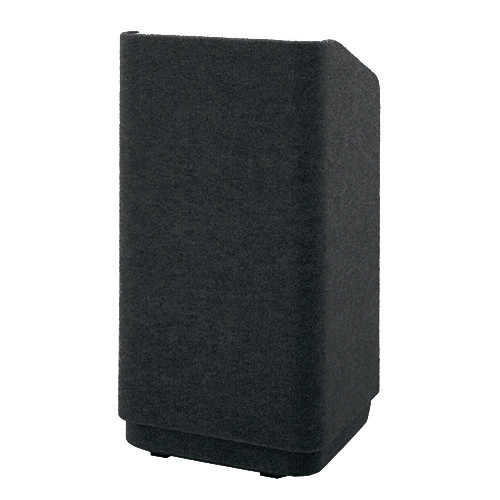 "Da-Lite Concord 25"" Carpeted Stacking Lectern (Black)"